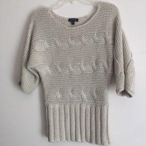 Bebe Women Kimono Sweater Dolman Sleeve Cable Knit